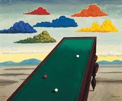 mesa snooker obra do fotógrafo Man Ray