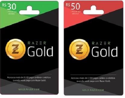 Cartões Razer Gold
