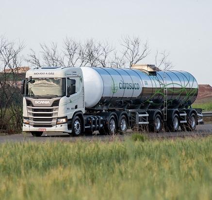 Caminhão tanque a GNV ou biometano