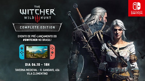Banner The Witcher 3 para Nintendo Switch