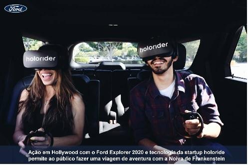 Experiência de realidade virtual em um Ford