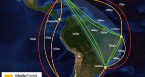 Mapa-distribuição das ondas ópticas