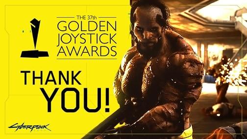 Banner do Golden Joysticks Awards