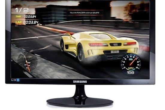 Um dos  monitores gamers Samsung