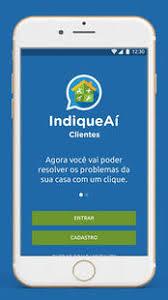 Smartphone com app IndiqueAí