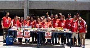 Voluntários natal sem fome
