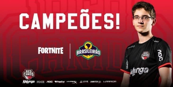 Equipe ganhadora do Brasileirão feat Fortnite