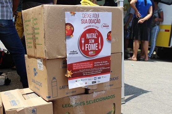 Doações para as ONGs criam natal sem fome