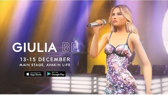 Giulia Be em show virtual