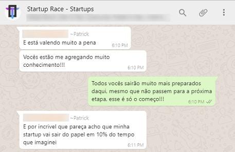 Depoimento sobre Tao Startups