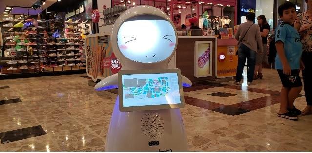robô concierge Maia