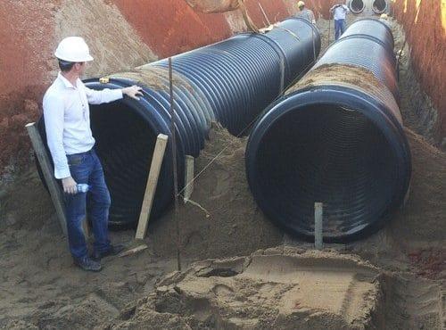 tubos polietileno enterrados