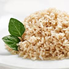 Arroz integral, arroz e feijão