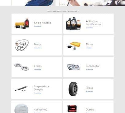 Ford lançou loja oficial