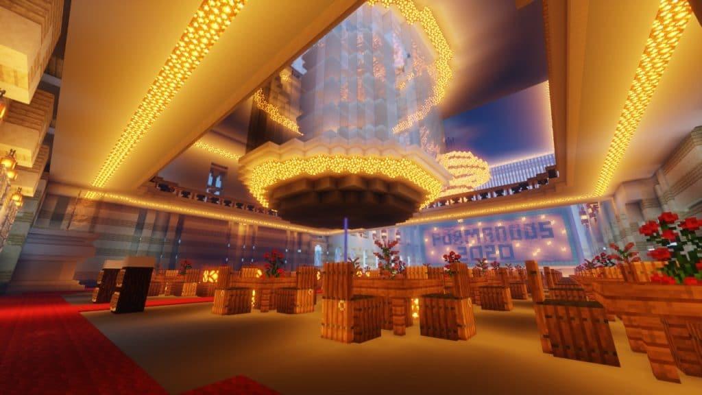 Salão da festa em minecraft