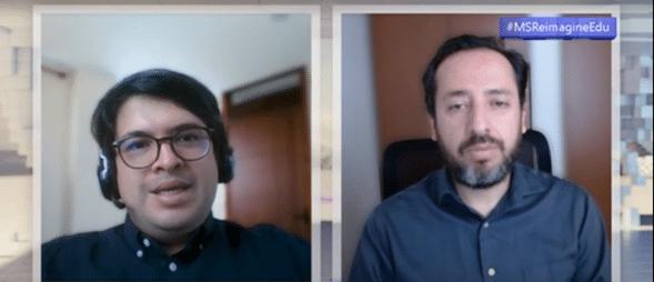 duas pessoas dividindo a tela em conversa por vídeo