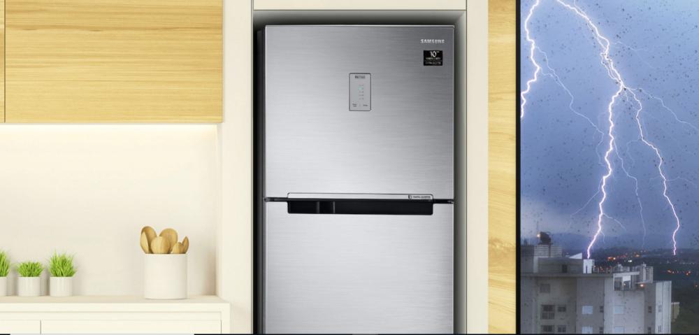 Geladeira Samsung Evolution em uma cozinha